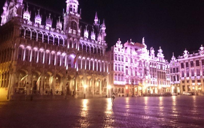 Mise en lumière de la grand place de Bruxelles