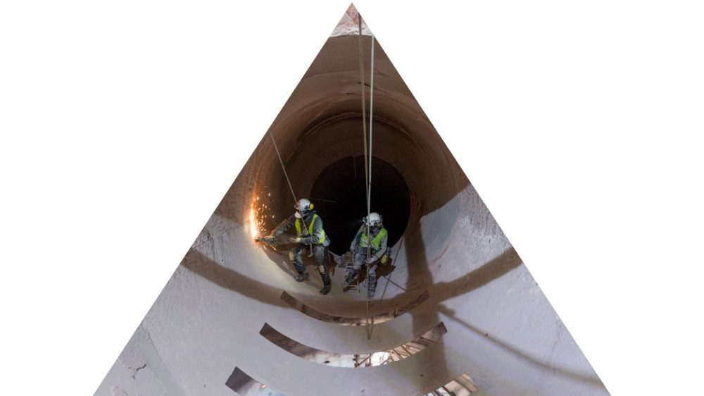Travaux en milieu confiné dans un tunnel