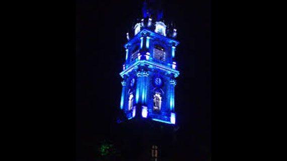 Mise en lumière de bâtiments historiques Beffroi de Mons